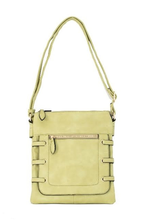 Peridot Tres Chic Side-Strap Accent Crossbody Bag
