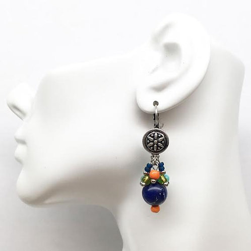 Treska Festival Collection Cluster Drop Earrings
