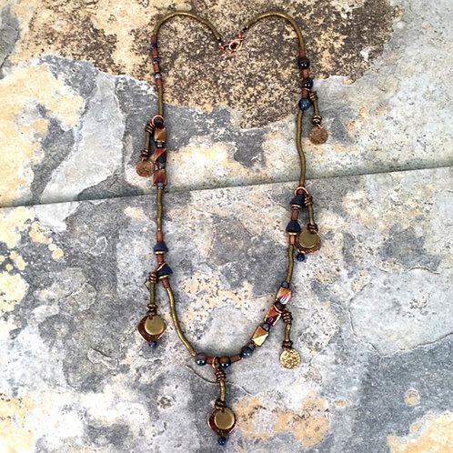 Uluru Long Necklace with Dangles by Treska