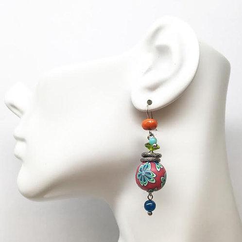 Treska Festival Collection Bead Drop Earrings