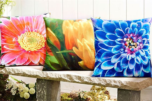 Enchanted Garden Floral Design Pillows
