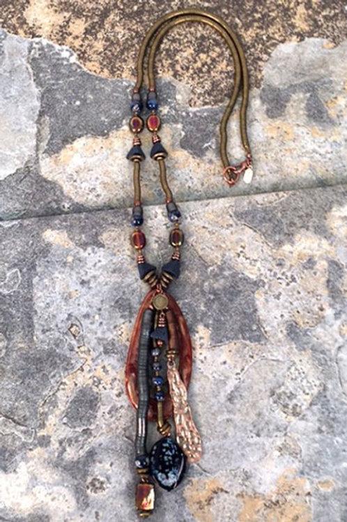 Uluru Long Pendant Necklace by Treska