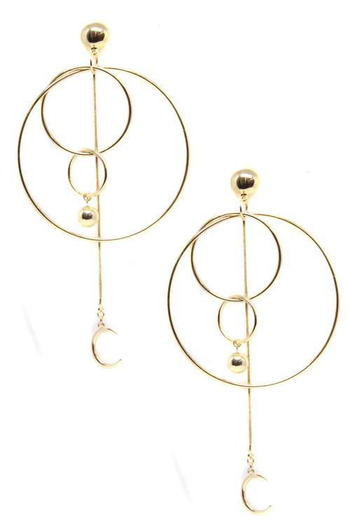 Ettika Moon Ride Re Defined Hoops Earrings in Gold