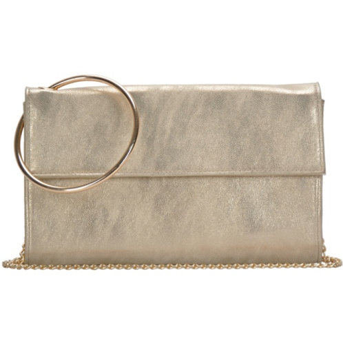 Madison West Marbled Gold Crossbody Clutch