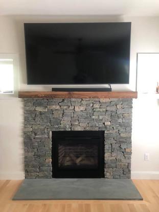 Bluestone and Granite Fireplace
