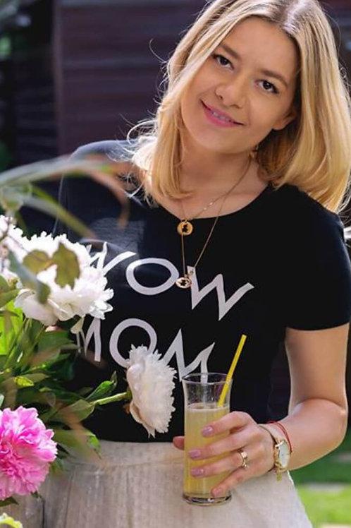 Tricou negru WoW MoM