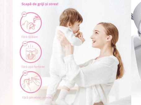 Solutia rapida si sigura pentru sterilizarea suzetelor si tetinelor