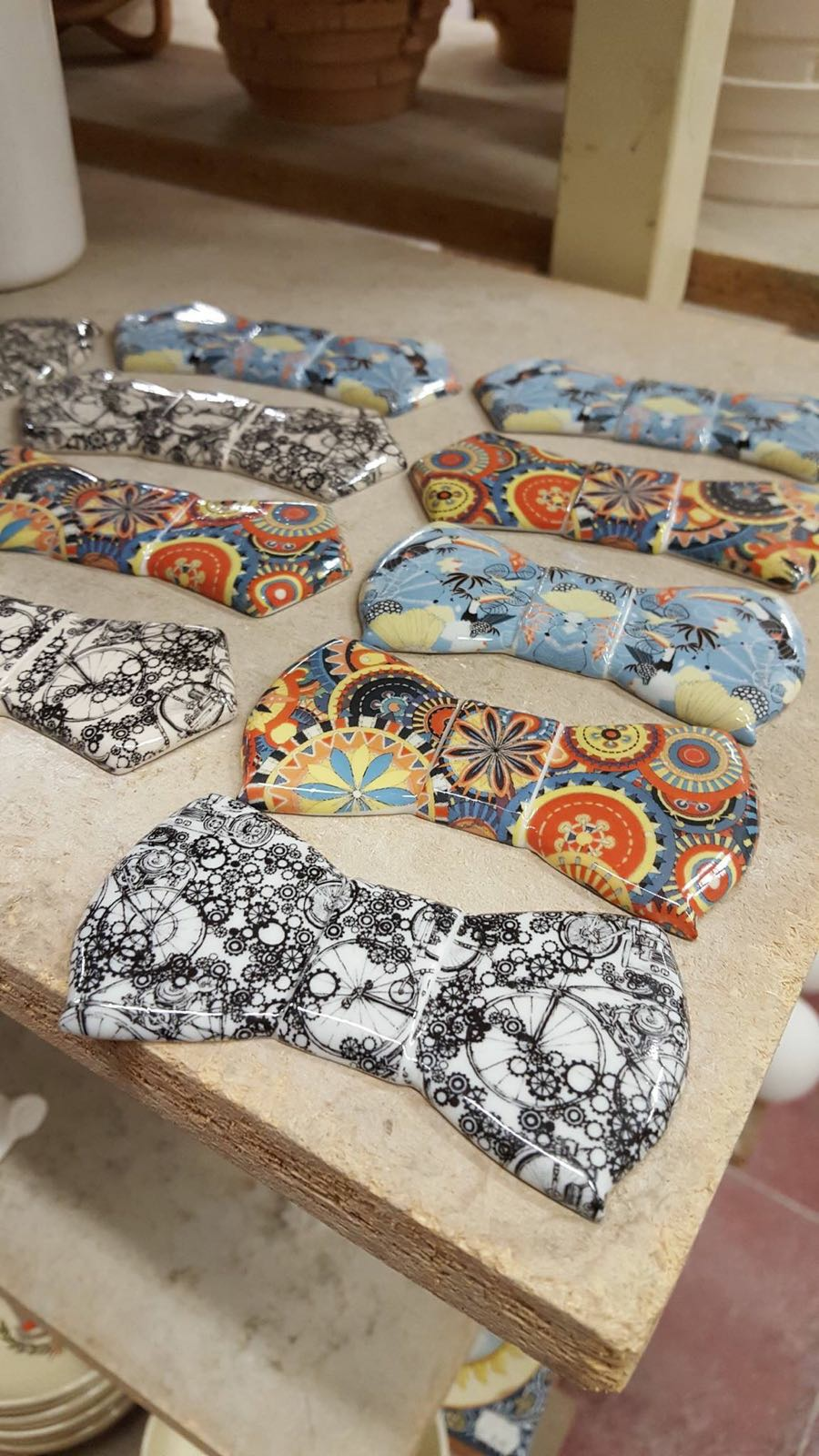 Ceramic Bow Ties by ArtWear Liberati