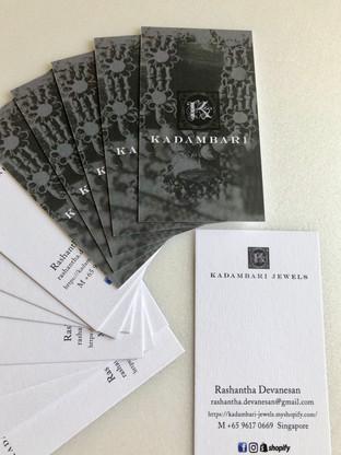 Kadambari Name Cards
