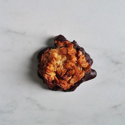 2 FLORENTINES BIO DES ABEILLES AMANDES-MIEL-CHOCOLAT NOIR