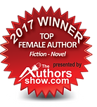 Top Female Author winner badge