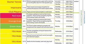 Mini/Junior tennis programme starts again!