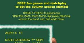Free Tennis Season Open day for children!