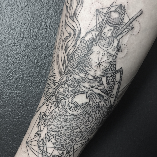 Warrior on Griffin by Nika