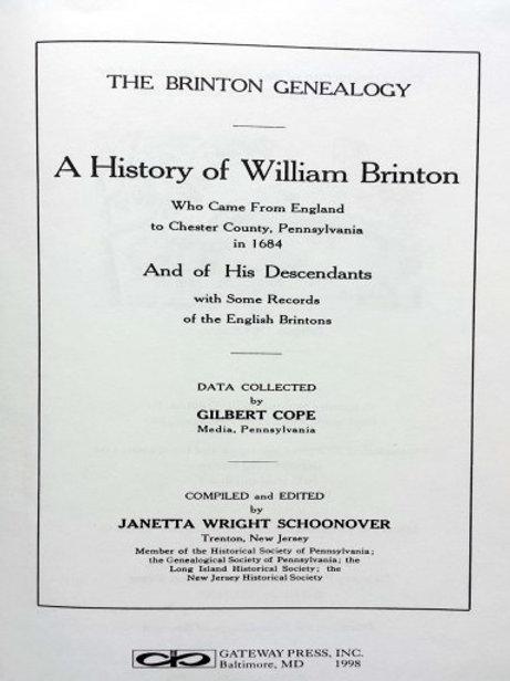 Brinton Family Genealogy (1924)