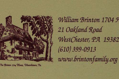 William Brinton 1704 House Magnet