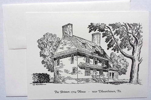 William Brinton 1704 House Notecards (12 Pack)