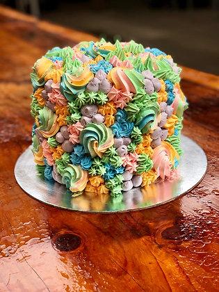 Signature Rainbow Sponge Cake