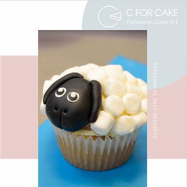 黑面羊 Shaun the sheep Cup Cake  12pcs