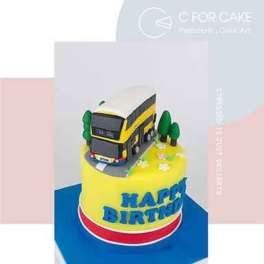 Bus 巴士 翻糖牛油蛋糕