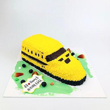 JR Yellow火車 吱花蛋糕