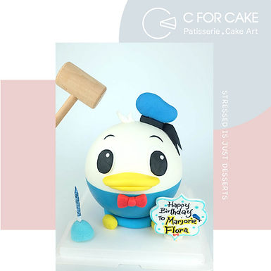 Donald Duck 唐老鴨 扑爆蛋糕