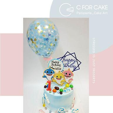 Baby Shark曲奇 Cream Cake