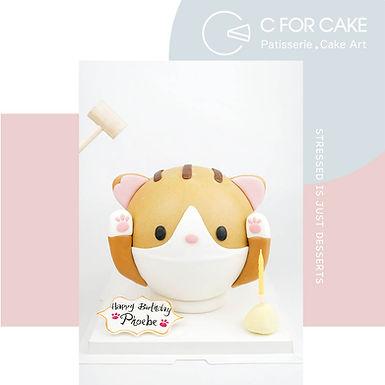 招財貓貓 扑爆蛋糕