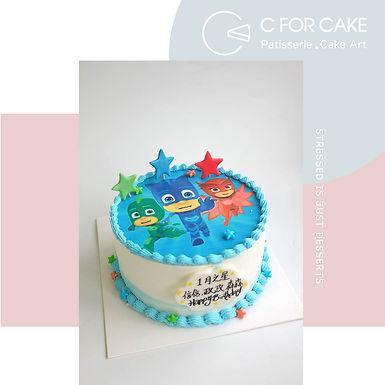 PJ mask Cream Cake