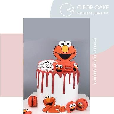 芝麻街 Elmo主題 忌廉蛋糕