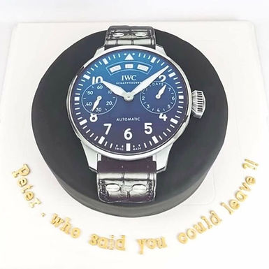 IWC 手錶造型 牛油蛋糕