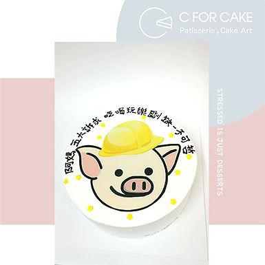 連豬真漢子 安全帽Cream Cake