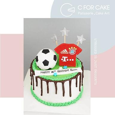 足球球衣 忌廉蛋糕