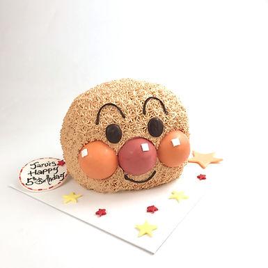麵包超人頭 吱花蛋糕