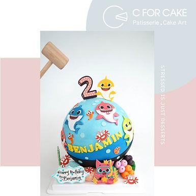 Baby Shark 海洋樂園 扑爆蛋糕