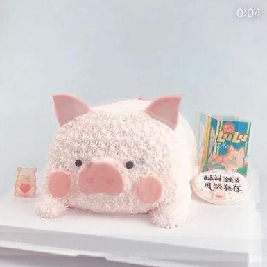 Lulu豬 吱花蛋糕