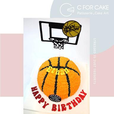 籃球 吱花蛋糕 半球