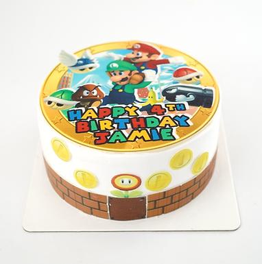 Super Mario 數碼打印 Cream Cake
