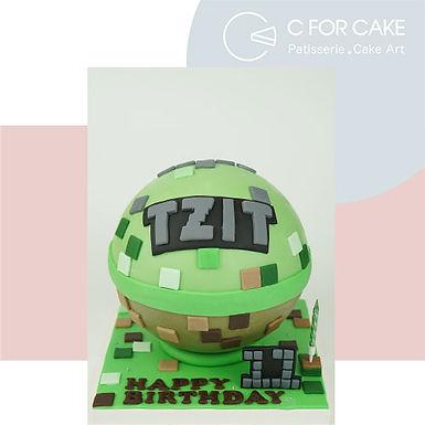 Minecraft 主題扑爆蛋糕