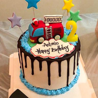 小小消防車蛋糕