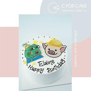連豬Pepe Cream Cake
