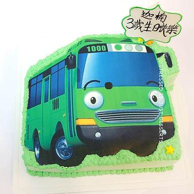 Tayo car 平面吱花蛋糕