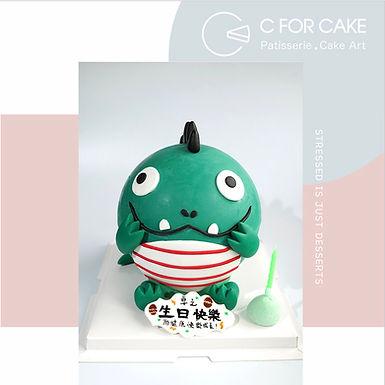 小恐龍 扑爆蛋糕