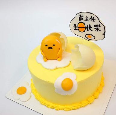 蛋黃哥 糖公仔 忌廉蛋糕
