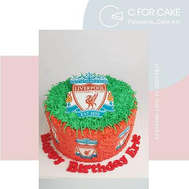 利物浦 吱花蛋糕