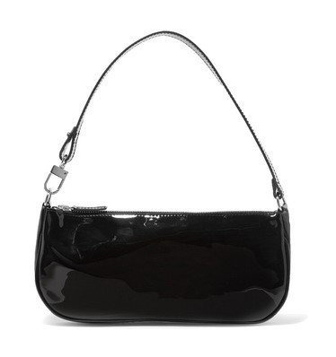Agatha Vintage Shoulder Bag (Black Patent)