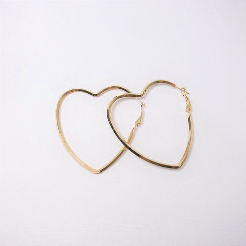 Bella Gold Heart Hoops