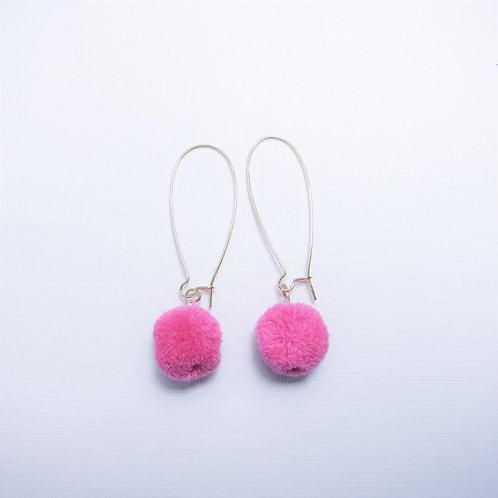 Faye Hot Pink Pom Drops