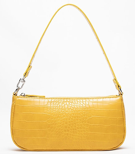 Agatha Vintage Shoulder Bag (Lemon Croc-Effect)
