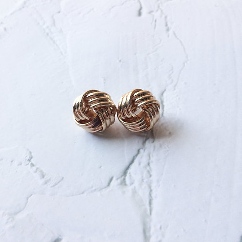 Xyla Gold Weave Studs
